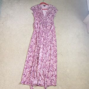 IMAN Pink printed maxi dress with bow back